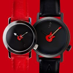 악테오RedGuitar(42mm 34mm)커플시계손목시계