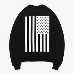 FLAG FLEECE SWEATSHIRTS (BLACK)