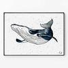 메탈 북유럽 그림 아이방 인테리어 액자 혹등 고래