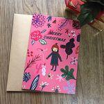펀사 크리스마스카드-핑크