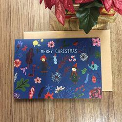 펀사 크리스마스카드-네이비