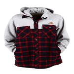 BURNSTREET Double Color Red Check Grey