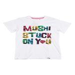 MUSHI SS TALL T W1111 STUCK ON YOU WHITE