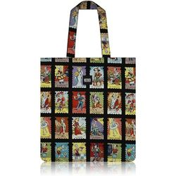 Cartas Marcadas Stamps Flat Tote Bag