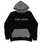 TAKE A RISK HOOD BLACK