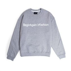 BAF CROSS CREWNECK (GRAY)