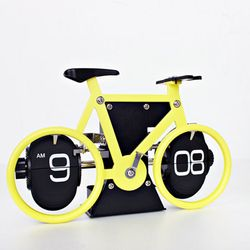 (kts063)자전거플립 탁상시계 옐로우