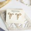 14K gold luna ribbon earring