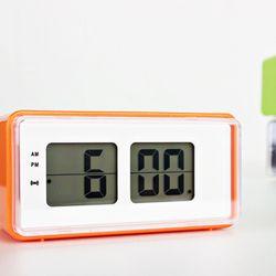 (kts056)디지털플립탁상시계 오렌지