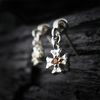 Shiny Cross-D1[보석] 천연석 십자가 실버귀걸이