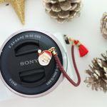 렌즈캡홀더 크리스마스 산타 12cm 14cm 16cm 18cm