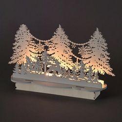 LED 화이트 나무장식