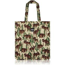 Moose & Bear Flat Tote Bag