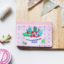 위드앨리스 미니 카드 케이스 Yogurt
