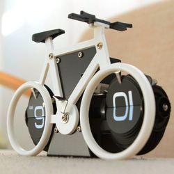 자전거 플립 탁상시계(화이트)