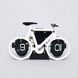 아날로그 자전거 플립시계