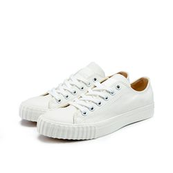 [Bata Bullets] Tone on Tone Canvas Low (White)