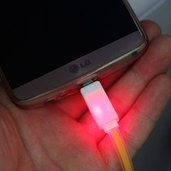 실속형마이크로 5핀 발광 USB 케이블
