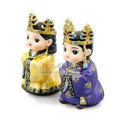 민속인형-왕과왕비(신라)