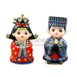 민속인형-왕과왕비(조선-대례복)