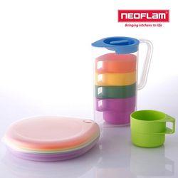네오플램 드롭렛 피크닉 물컵 접시세트
