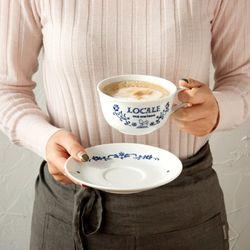 마메종 블루로즈 커피잔 290ml 카페라떼