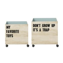 [BloomingVille]Storage Box with Wheels & Text 5050