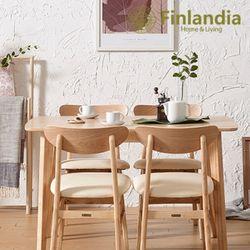 핀란디아 데니스 네츄럴 4인식탁세트(의자4)