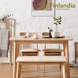 핀란디아 데니스 네츄럴 4인식탁세트(의자2+벤치1)