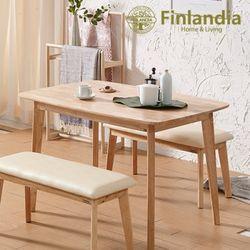 핀란디아 데니스 네츄럴 4인식탁세트(벤치2)