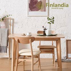 핀란디아 데니스 네츄럴 2인식탁세트(와이드형)