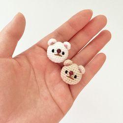 손뜨개 브로치 뱃지 - 강아지 (진도개)