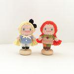 손뜨개 인형 인테리어 데코 장식 소품 - 삐삐 앨리스