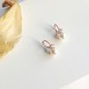 14K gold pearl amore ring earring