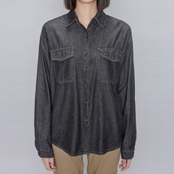 washing denim shirt (2 colors)