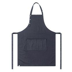 (AA1702) modern pin striped apron grey