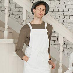 (AA1760) HAKATA cotton apron white