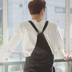 (AA1762) HAKATA cotton apron black