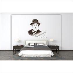 챨리 채플린 디자인 벽지 채플린 포인트 뮤럴 벽지
