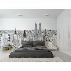 도시 뮤럴 포인트 벽지 빌딩 디자인 벽지 거실 벽지