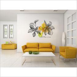 인테리어 그래픽 디자인 벽지 꽃 포인트 뮤럴 벽지