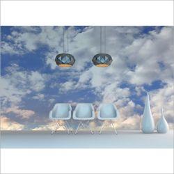 클라우드 하늘 디자인 실크 포인트 벽지 뮤럴 벽지