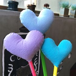 [DIY] heart pencil topper-blue type