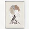 메탈 기하학 패턴 포스터 액자 마블 믹스 [대형]