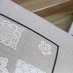 레이스패치 면 방석 50x50 (솜미포함) - 2color