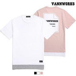 밴웍스 LAYERED BACK PRINT T-Shirts 3칼라(V16TS214)