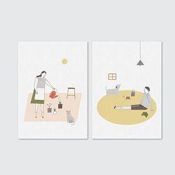Slow life-card set