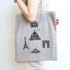 페이퍼웨이즈 캔버스백 City시리즈-1.Paris Landmarks