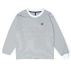BAF 890 STRIPE LONG SHIRTS (WHITE)