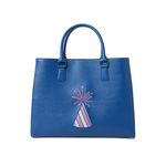 party hat hand bag - blue